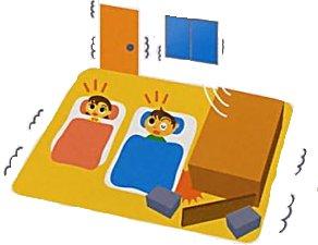 『家具の転倒防止・落下防止・ガラス飛散防止01』の画像