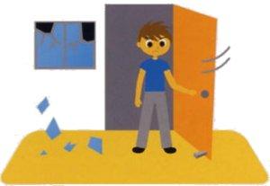 『ドアや窓を開け出口を確保』の画像