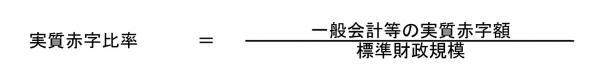『実質赤字比率算定式』の画像