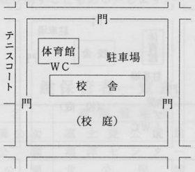 富士見中学校 全体図
