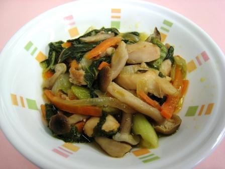 『鶏肉と青梗菜のオイスターソース炒め』の画像