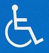 『障害者のための国際シンボルマーク』の画像