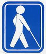 『盲人のための国際シンボルマーク』の画像