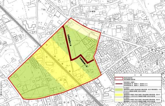 『上広谷第1地区地区計画 地区区分図』の画像