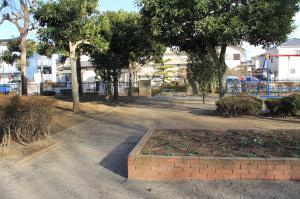 『八幡児童公園(花壇・木)』の画像