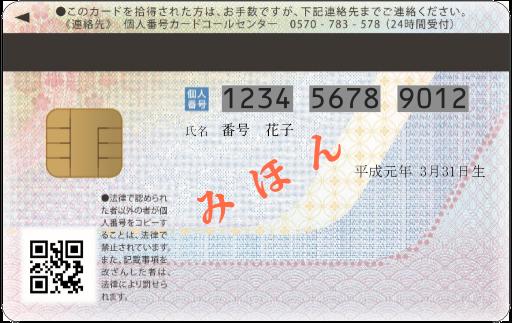 『個人番号カード裏』の画像
