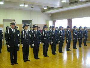 『鶴ヶ島市交通指導員年頭視閲式(整列)』の画像