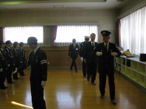 『鶴ヶ島市交通指導員年頭視閲式(点検)』の画像