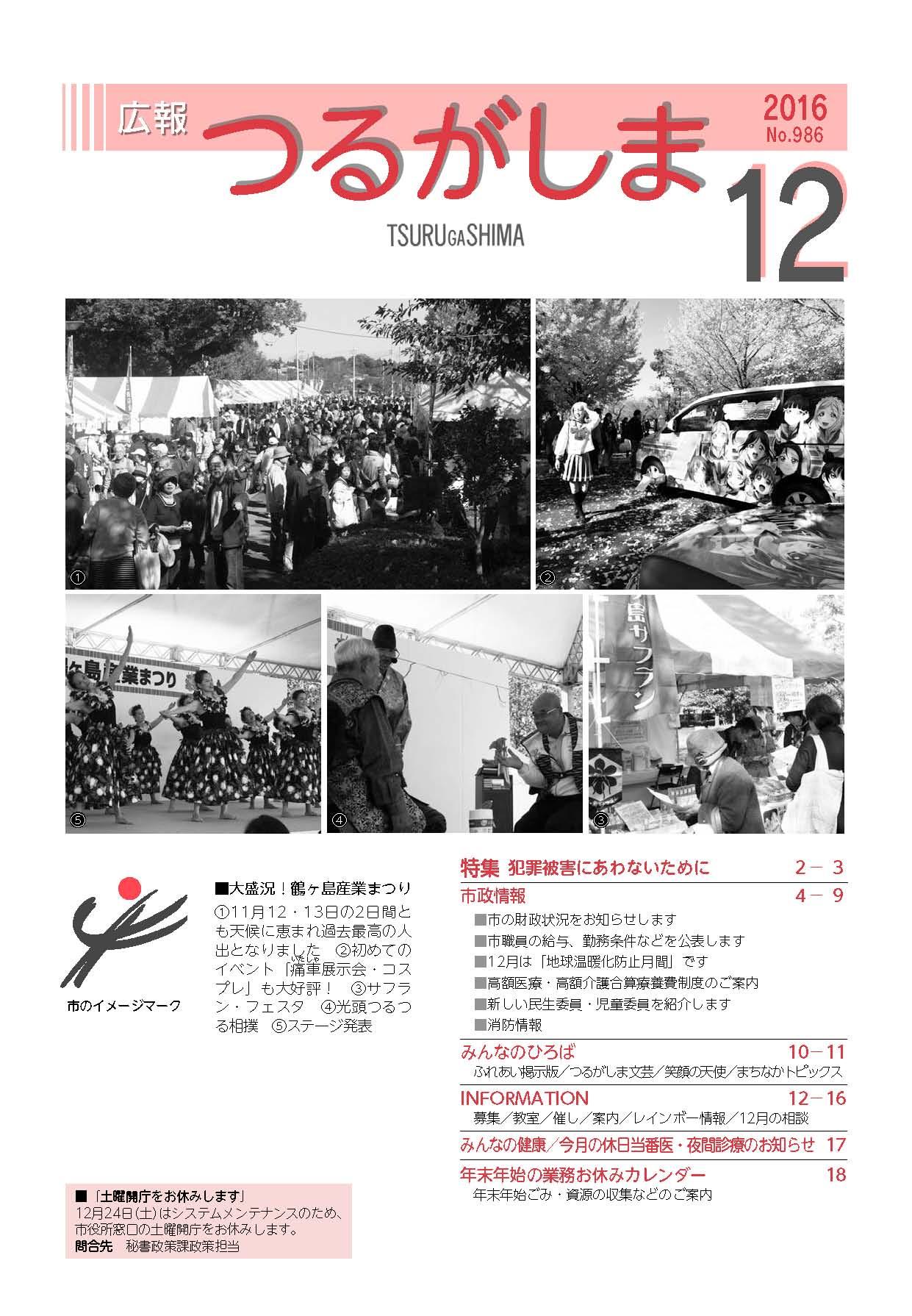 『平成28年12月号表紙』の画像