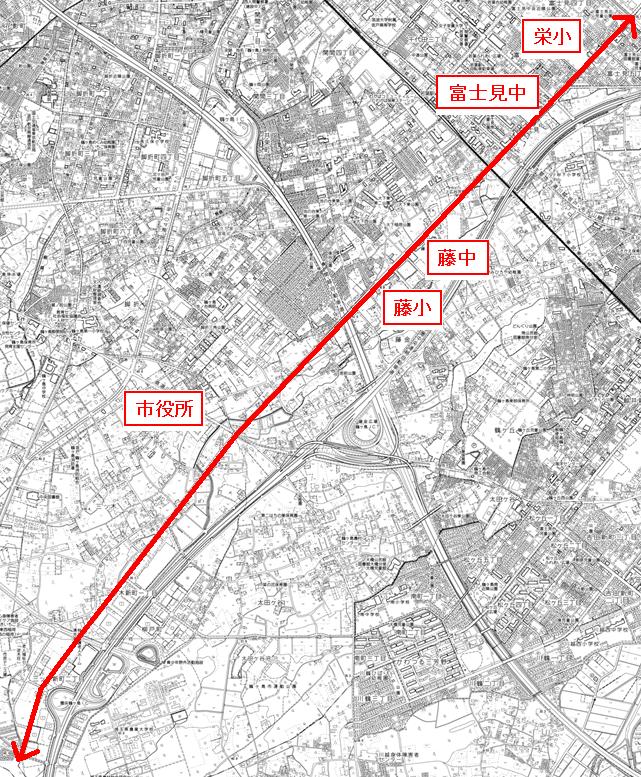 『思いやりハイビーム路線位置図』の画像