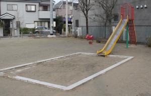 『鶴ヶ丘西公園(滑り台と砂場)』の画像