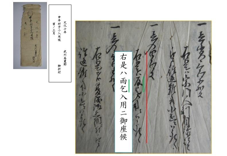 『申年村方小入用帳』の画像