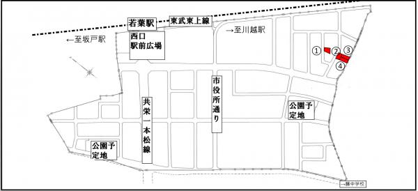 『令和2年8月若葉駅西口案内図』の画像