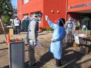 『『新型コロナウイルス感染症対策を踏まえた避難所訓練』の画像』の画像