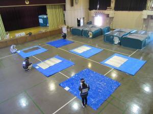 『『新型コロナウイルス感染症対策を踏まえた避難所訓練③』の画像』の画像